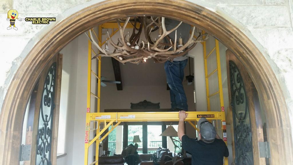 Chandelier Installation in Grapevine TX