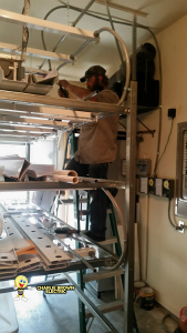 hydroponic system installation